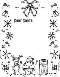 Letter To Santa Template Santa Letter Template Santa Template