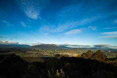 Mount Roland and Sheffield in the foreground, Tasmania.