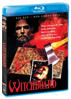 Witchboard (1986) ($18.96) http://www.amazon.com/exec/obidos/ASIN/B00GJ7CUFG/hpb2-20/ASIN/B00GJ7CUFG This has always been a favorite movie of mine and I love the DVD. - One of my favorite cheesy horror movies from the 80's. - I could go on...  but, I'll stop here...  and say...  TTFN...  watch the movie and you'll know what I mean...  Don't play it alone!