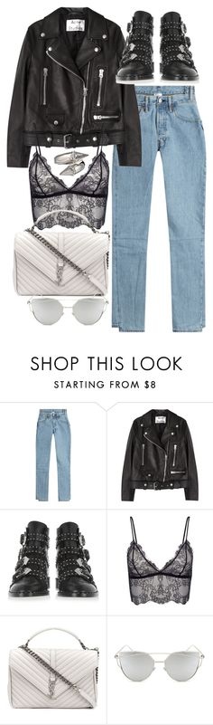 """""""Untitled #11235"""" by minimalmanhattan ❤ liked on Polyvore featuring Vetements, Acne Studios, Givenchy, Anine Bing, Yves Saint Laurent, Chicnova Fashion and Alexander McQueen"""