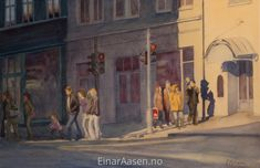 Watercolour paintings of light in landscapes, seascapes and portraits by Einar Aasen. Using colours to feature light and textures. Art Pics, Art Pictures, Watercolor Portraits, Watercolour Painting, Trondheim Norway, Original Art, Original Paintings, Artist Life, Watercolor Landscape