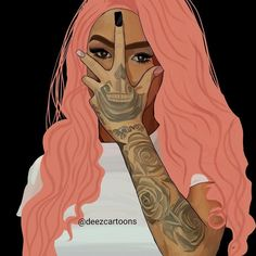 I finally know how to blend This took me 4 days but I don\'t  like The way I did her hair but I  At lease try on the hair tho lol Model: molly 👅  #adobe #adobeillustrator #like4like #lit #art #dope #doubletap #followme #cool #lovely #illustrator #draw #cartoon