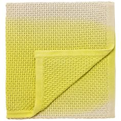 Accessorize the Boston Ivy collection with this dip dyed soft knitted throw. Yellow Throw Blanket, Boston Ivy, Tropical, Pattern, Ss16, John Lewis, Oasis, Blankets, Model