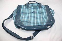 Brand New (DEFECTS) Puma Phantom Editor's Handbag Hand Bag Navy Maui Blue Plaid #Puma #Handbag