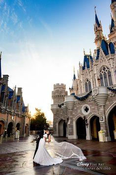 "Say ""I do"" at the place where fairy tales come to life. Start planning your Walt Disney World wedding today! #disneythemewedding #weddingphotography #weddingideas"