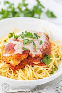 italian chicken parmesan recipe with spaghetti and red marinara sauce-#italian #chicken #parmesan #recipe #with #spaghetti #and #red #marinara #sauce Please Click Link To Find More Reference,,, ENJOY!!