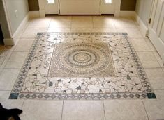Mosaic Floor Tile Patterns - The type of flooring you choose for your toilet feel of their restroom and determines the loo Entryway Flooring, Kitchen Flooring, Slate Flooring, Cork Flooring, Tile Entryway, Entry Tile, Door Entry, Bedroom Flooring, Wooden Flooring