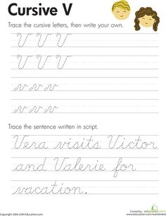 "Practice cursive letters A-Z with our cursive handwriting worksheets. From A to the mysterious cursive Z, kids get the extra guidance they need to master their letters. Download individually or the whole set at once. These are handy for giving kids a quick reminder on tricky letters. For more practice, check out our other <a href=""http://www.education.com/worksheets/cursive/""> cursive worksheets</a>."