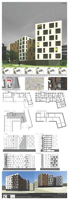 Studentský projekt. LS 2013/2014. FSv ČVUT v Praze. Praha, Buildings, Multi Story Building, Presentation, Floor Plans, College, Architecture, Projects, Socialism