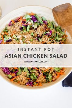 Instant pot recipes 418694096609421417 - Instant Pot Asian Chicken Salad – Instant Loss – Conveniently Cook Your Way To Weight Loss Source by Instant Pot Pressure Cooker, Pressure Cooker Recipes, Pressure Cooking, Real Food Recipes, Healthy Recipes, Blender Recipes, Gf Recipes, Healthy Dishes, Recipies