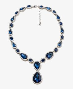 Sparkling Teardrop Necklace | FOREVER21 - 1018083825... it's like the HEARTS of the ocean!!