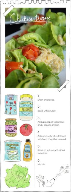 Chickpea Wraps: use earth balance SOY-Free vegenaise. I mash beans instead of blend, this way they don't turn into mush.