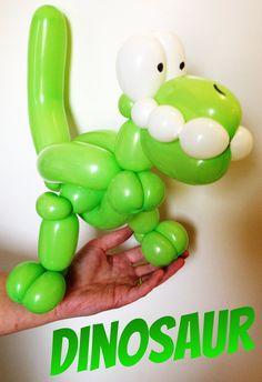 Balloon Face, Balloon Toys, Balloon Animals, Dinosaur Birthday Party, 2nd Birthday Parties, Birthday Balloons, Balloon Decorations, Flower Decorations, Balloon Ideas