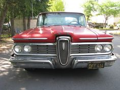 1959 Edsel Ranger Coupe.  Ranger was the bottom-of-the-line Edsel.  Note it's passing resemblance to the Green Hornet's Black Beauty, however.