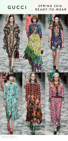 Spring//Summer 2016 Print & Pattern Trends- Gucci Images: vogue.com
