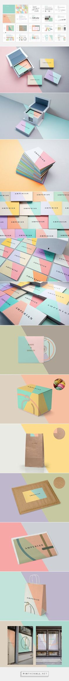 Color blocking #stationery design. Love the business cards and packaging especially.: (Business Card Mockup Originals)
