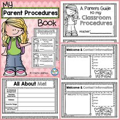 Parent procedures book! Everything they need to know for Back to School night or Meet the Teacher! $