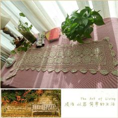 """Vintage Hand Crochet Off White Cotton Table Runner 201302 by Victoria's Deco. $19.99. We have three storages in U.S ,Canada and China. It will be shipped from one of them by randam order.. Material:100% cotton. We will ship it by register mail and please contact us if you want to get it faster by EMS.. color:off  white. Size:13""""x49"""". Lovely vintage style hand crochet table runner features scallop edge and flower pattern. Nice and neat in  white. Old time charm. Disappea..."""