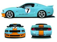 This Mustang Saleen Extreme pays homage to the Ford GT40, the legendary Le Mans winner of 1965, 1968 and 1969 years. This is very limited and is only available in a few units. I'm not a big fan of the color scheme, but I still think it runs rather nicely with the car and I'm glad Steve Saleen decided to show respect towards the GT40.