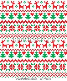 New Year's Christmas pattern pixel Cross Stitch Charts, Cross Stitch Designs, Cross Stitch Patterns, Cross Stitch Christmas Cards, Christmas Cross, Fair Isle Knitting Patterns, Knitting Charts, Cross Stitching, Cross Stitch Embroidery