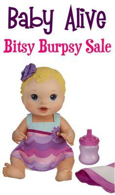 Baby Alive Bitsy Burpsy Baby Doll Sale: $16.99!