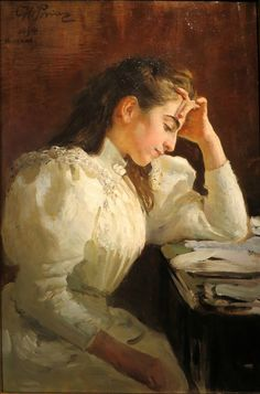 """И.Е.Репин """"Неаполитанка""""  1894г."""