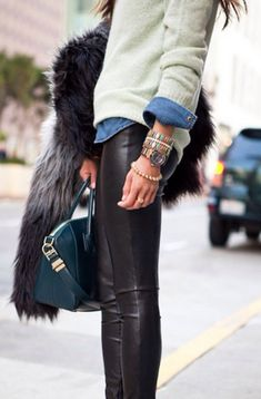 leather + fur, my favourite things