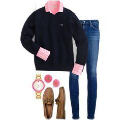 Gingham shirt + Vineyard vines + Monogram + Sperry's umm yes please!!