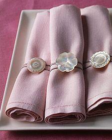 button napkin rings
