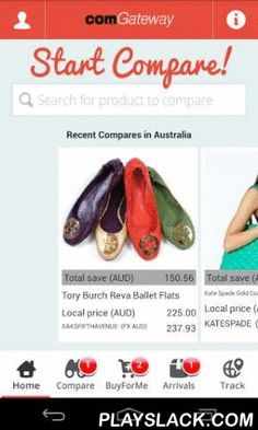 """ComGateway  Android App - playslack.com , Out shopping? Use our app's """"COMPARE"""" function to search for products in U.S. online stores, where they retail for less! Get immediate calculations on your savings when you shop lower U.S. online prices. Also, receive Live Quotes on shipping rates, and discover your total savings. Shop immediately, or save your great finds for later. Manage your account and track your shipments via your Android device. Top features: - Search for…"""