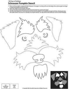 Schnauzer pumpkin template.