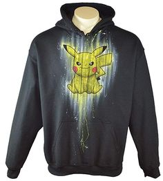 a8ef0cd8e04a Exotic Gamer Gear Themed Pokemon Pikachu Hoodie Airbrushed Gamer Hoodie