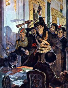 Arrest of the Provisional Government by the Bolsheviks during the Storming of the Winter Palace, October Revolution