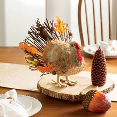 You'll love the Allegany Turkey Stick and Acorn Tail Figurine at Wayfair - Great Deals on all Décor products with Free Shipping on most stuff, even the big stuff.