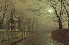 Silvery moonlight - John Atkinson Grimshaw