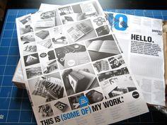 Effektive CV/Poster Mailer by Greig Anderson, via Behance; good portfolio idea
