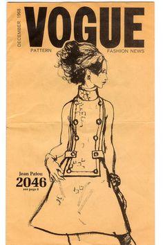 Vogue Paris Original 2046 by Jean Patou in Vogue Fashion News, December 1968
