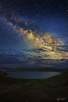 Milky Way from Deosal Plain, Pakistan. Photo: M-Atif-Saeed.