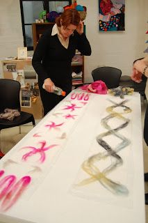 Want to learn how to nuno felt a silk scarf? Read on...