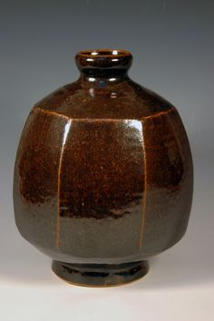 46. Faceted Vase | Tusseyville Pottery | Ron Hand