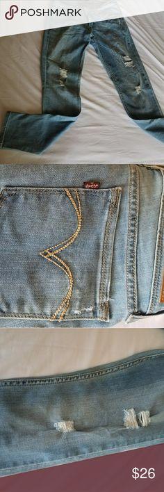 "Levis Demi Curve Levis Demi Curve  Low Rise   Skinny   Distressed   Light Blue   Size 11/30"" Waist  👑👑👑 EUC - Worn Once Levi's Jeans Skinny"