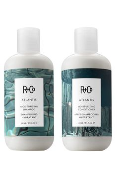 RCo Atlantis Moisturising Shampoo and Atlantis Moisturising Conditioner; 26 e Skincare Packaging, Perfume Packaging, Cool Packaging, Bottle Packaging, Cosmetic Packaging, Beauty Packaging, Healthy Shampoo, Atlantis, Lip Scrub Homemade
