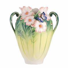 Franz Porcelain Cosmos Of Color - Butterfly Vase