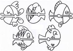 dibujos-de-peces-para-imprimir.jpg (760×537) i posar-los a les pinçes