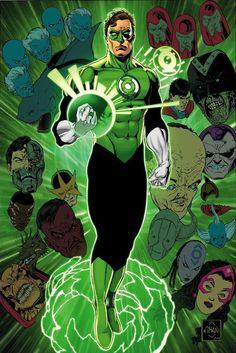 Green Lantern Hal Jordan and Rogues by Ethan Van Sciver Green Lantern Hal Jordan, Green Lantern Corps, Green Lanterns, Blue Lantern, Comic Book Artists, Comic Books Art, Comic Art, Dc Comics Characters, Dc Comics Art