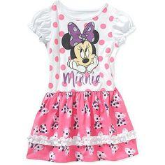 01651df4647 Minnie Mouse - Minnie Mouse - Dis Disney Short Sleeve Minnie Dress - Walmart .com