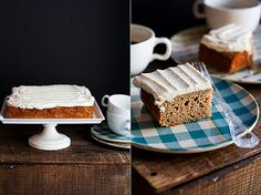 Applesauce Spice Cake w/ Brown Butter-Cream Cheese Frosting   by Cindy   Hungry Girl por Vida