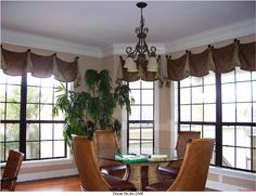 Add color & texture to windows with a valance that lets in the view! drapestudio.com