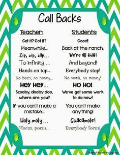 Call backs