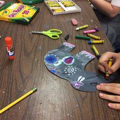 5th graders working on India inspired art    #art #elementaryart #artroom #oilpastel #elephants #india #motif #elephantsofindia #paintedpaper #arteducation #arted #artandculture